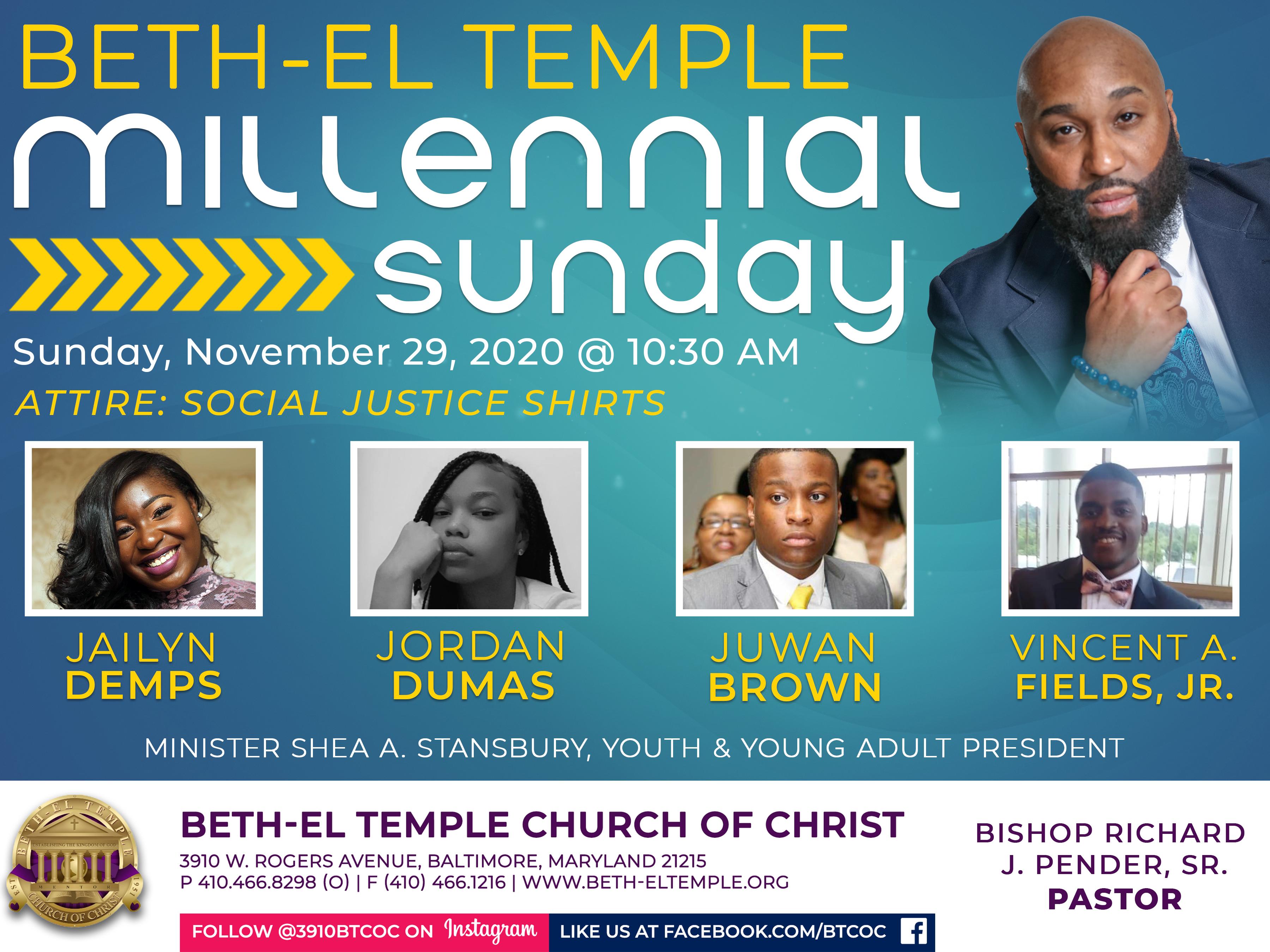 Millennial Sunday