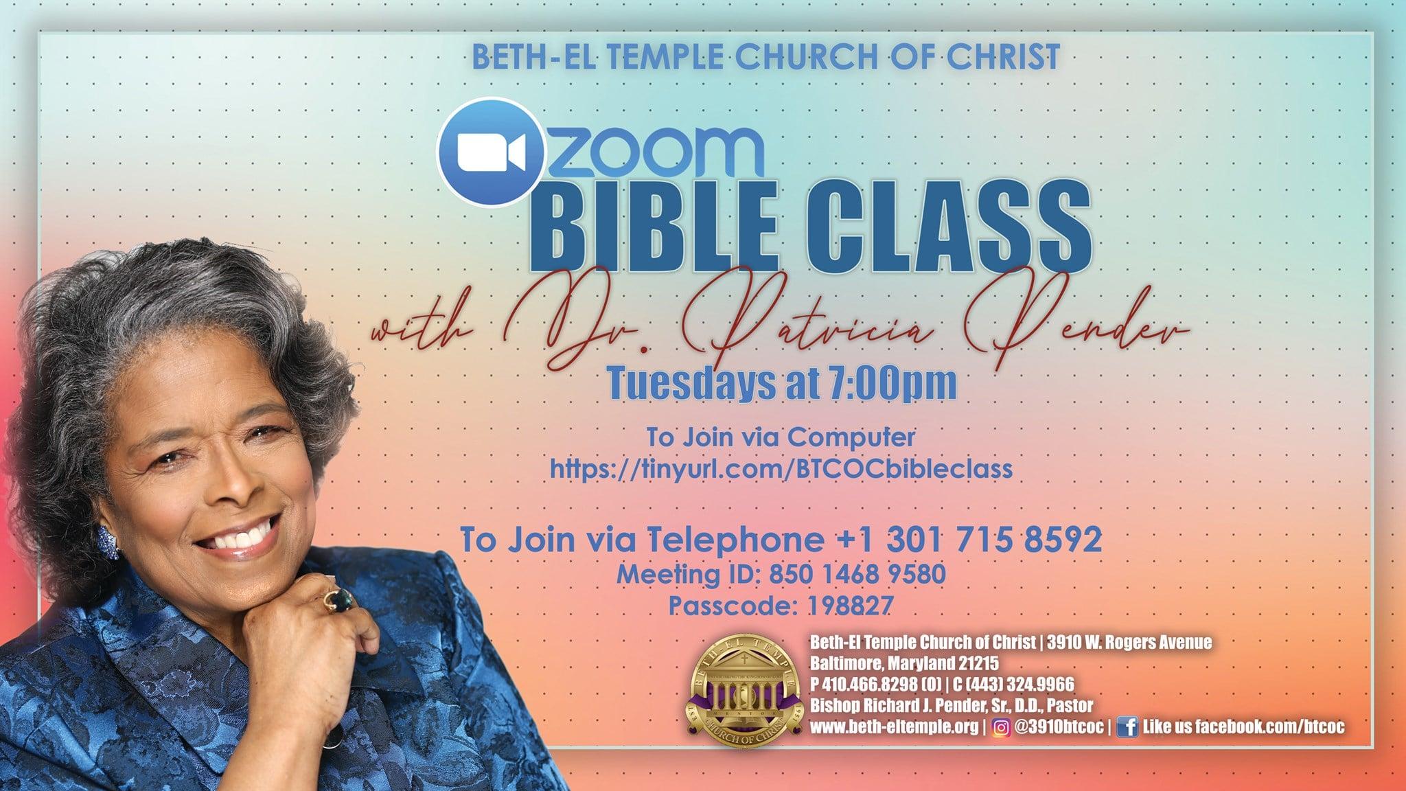 Bible Class Zoom